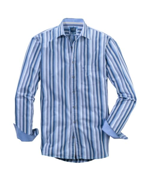 OLYMP CASUAL MODERN FIT / BLUE & WHITE STRIPE